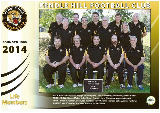Pendle Hill FC Life Members 2014